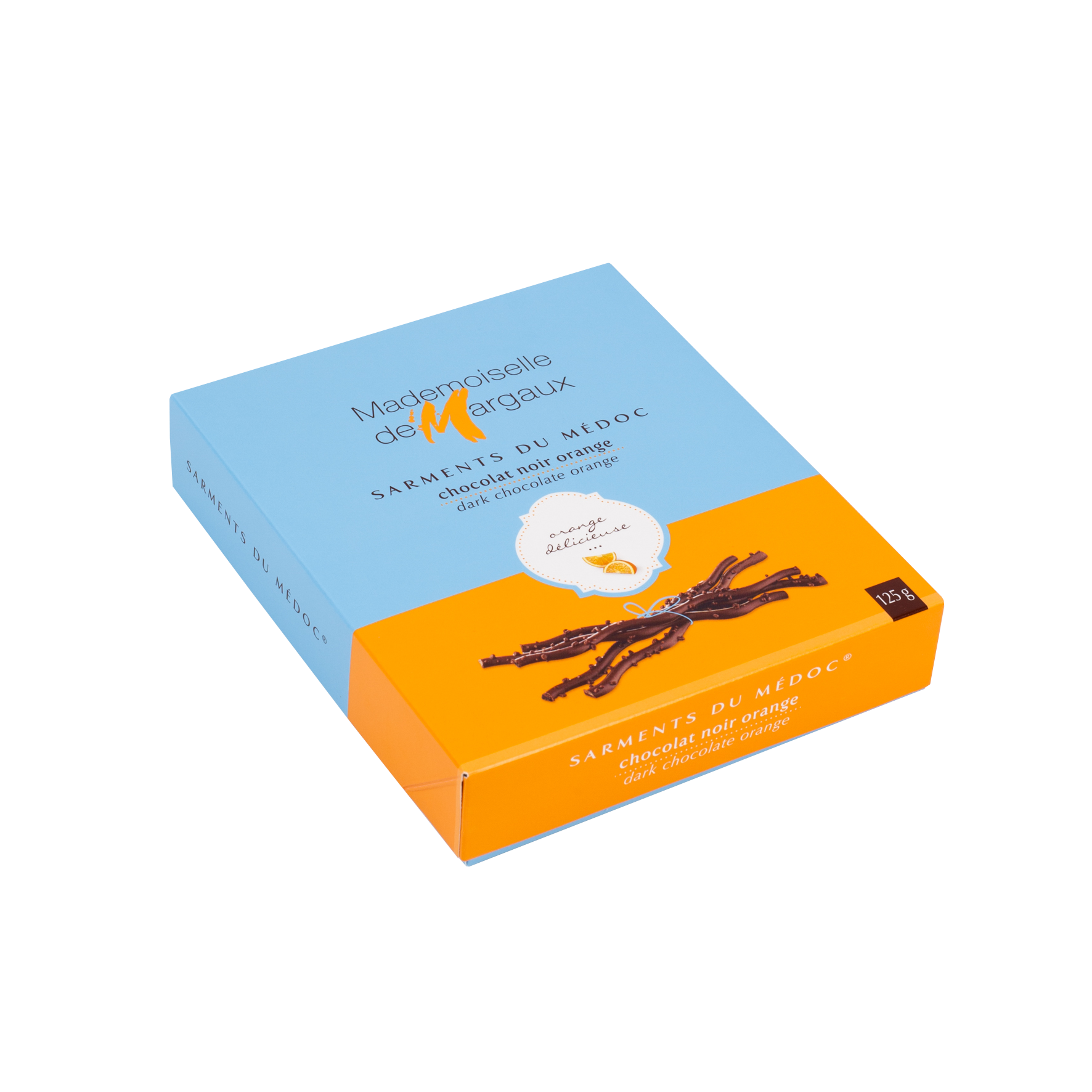 Sarments du Médoc Chocolat Noir Orange 125gr